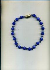 Girocollo con murrine veneziane blu stellate