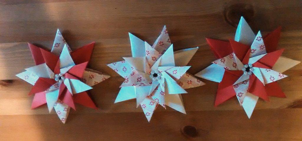 3 Stelle di Natale, decorazione natalizia, mandala, albero di natale