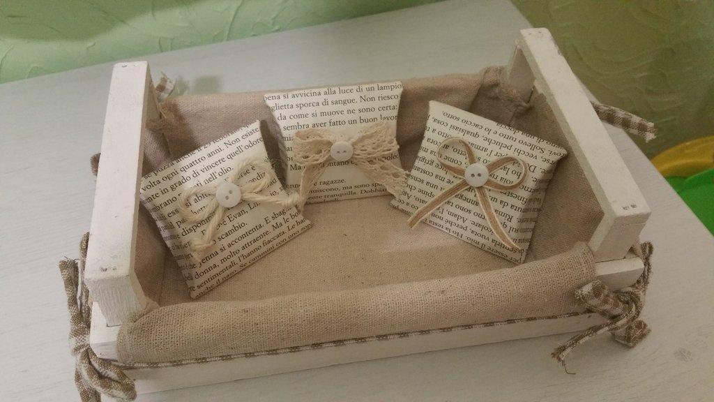 Scatoline shabby portaconfetti