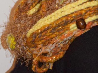 sciarpa collana gialla