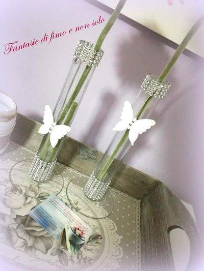 monofiore in vetro decorato