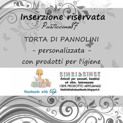 INSERZIONE RISERVATA per Pasticcino87