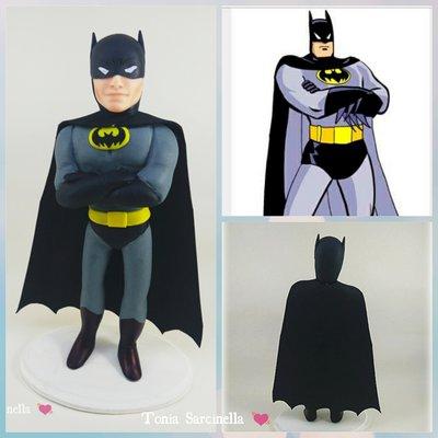 Cake topper Batman in porcellana fredda