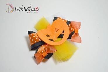 halloween hair clips fiocco fermaglio con zucca in feltro