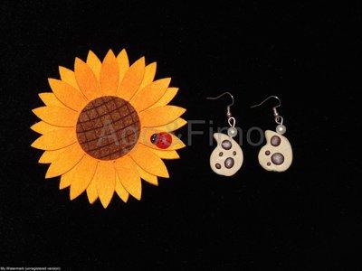 orecchini fimo gocciole biscotti