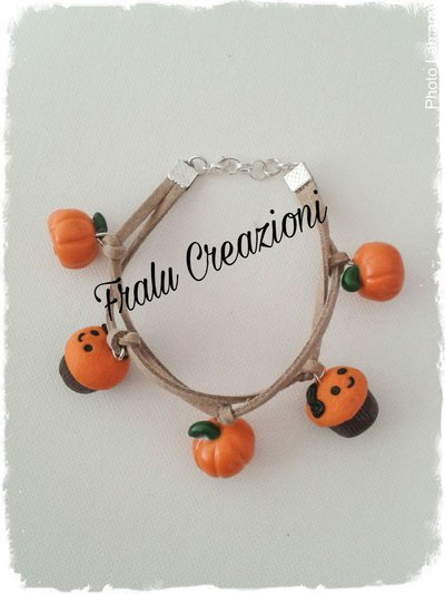 Braccialetto halloween ciondoli in fimo