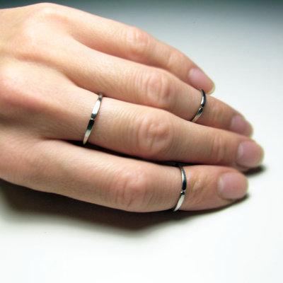 Set di 3 anelli in acciaio inossidabile