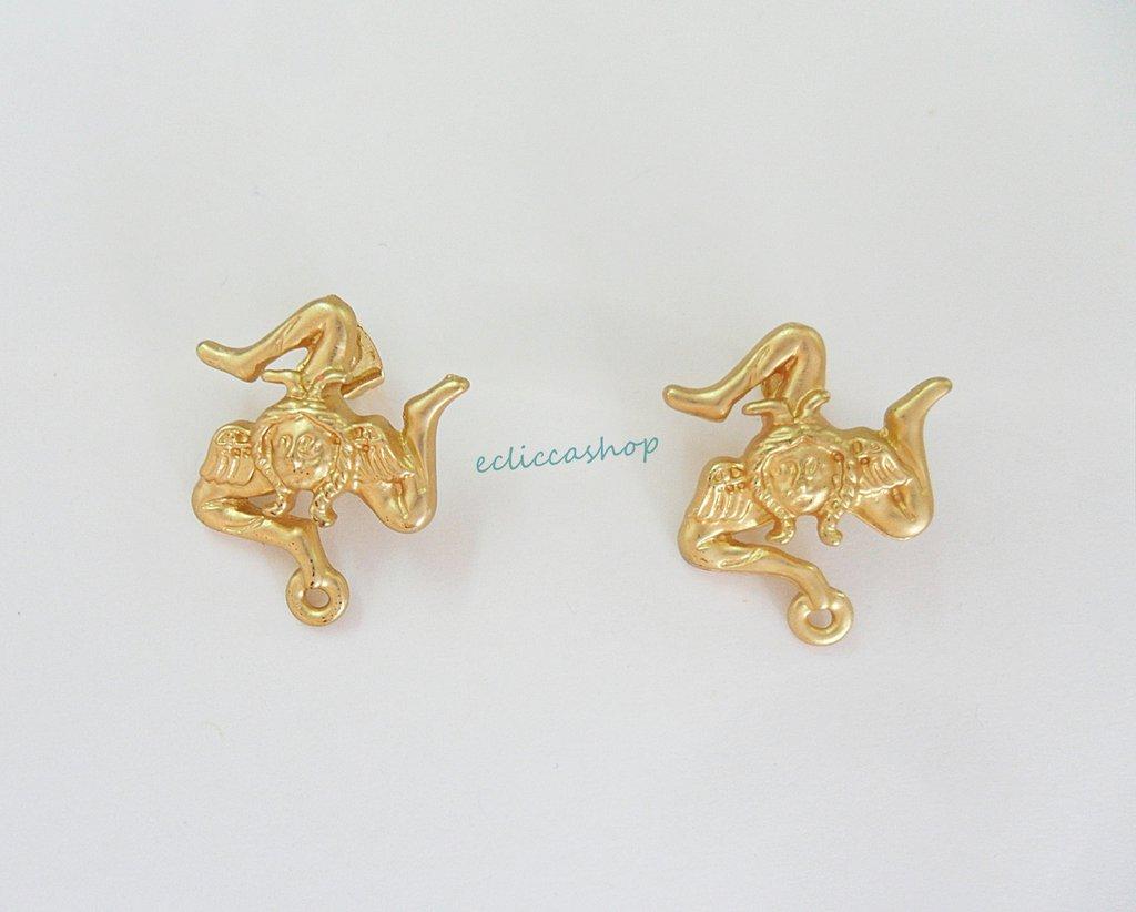 Base orecchini colore oro nickel free 1coppia