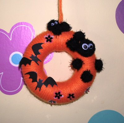 Ghirlanda Decorativa Fuoriporta per Halloween^^ - Nerini del Buio e Pipistrelli!