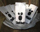 Lotto Sacchetti Fantasmini per Halloween! - Sacchetti per alimenti (13pz)