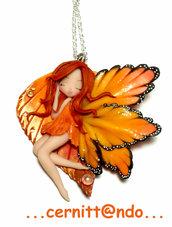 Collana fatina d'autunno arancio