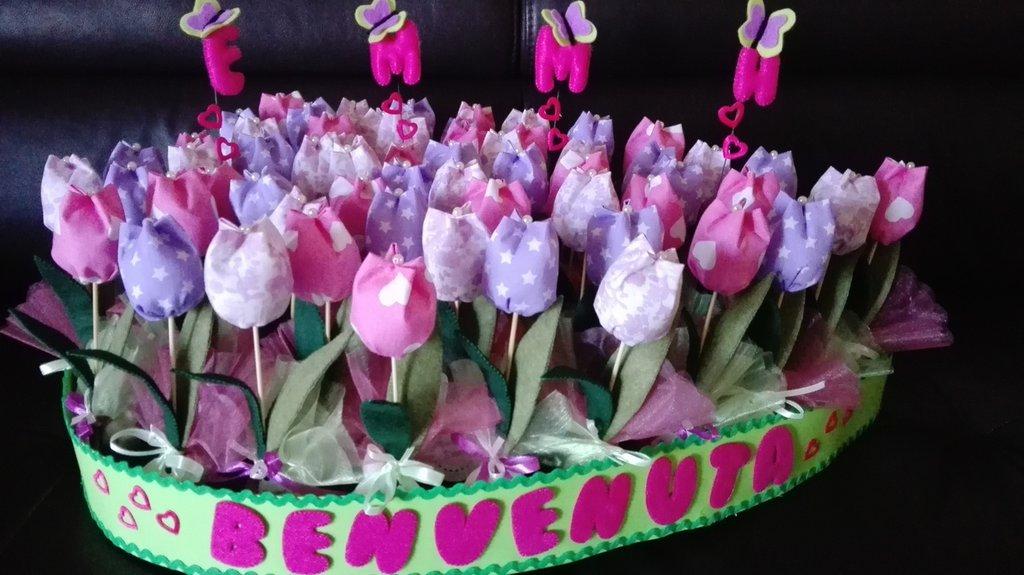 Bomboniere tulipani di stoffa