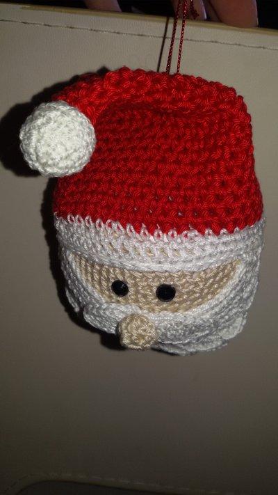 Pallina Babbo Natale appendibile