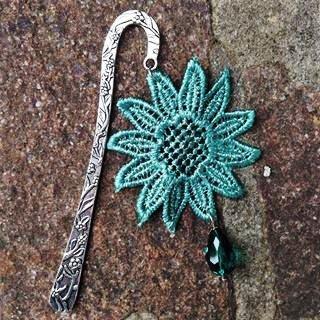segnalibro fiore verde