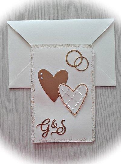 Biglietto di auguri porta-soldi per matrimonio