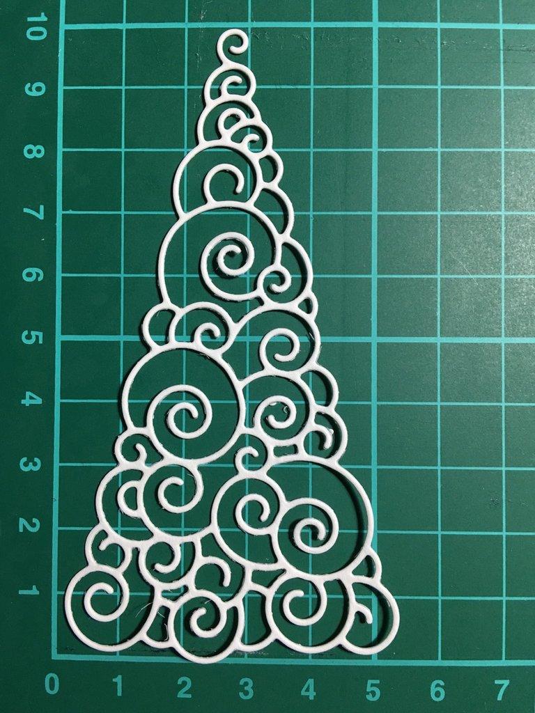 Forma albero di Natale fustellata