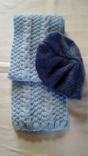 sciarpa e basco da bambina