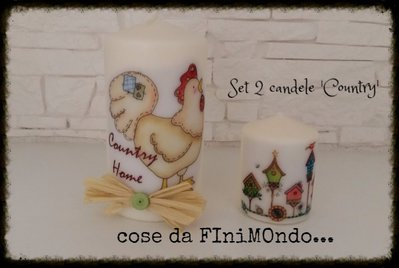 candele personalizzate varie misure