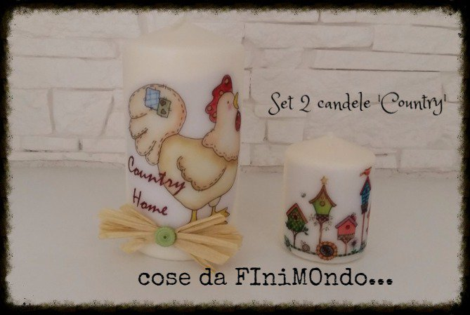 candele personalizzate varie misure