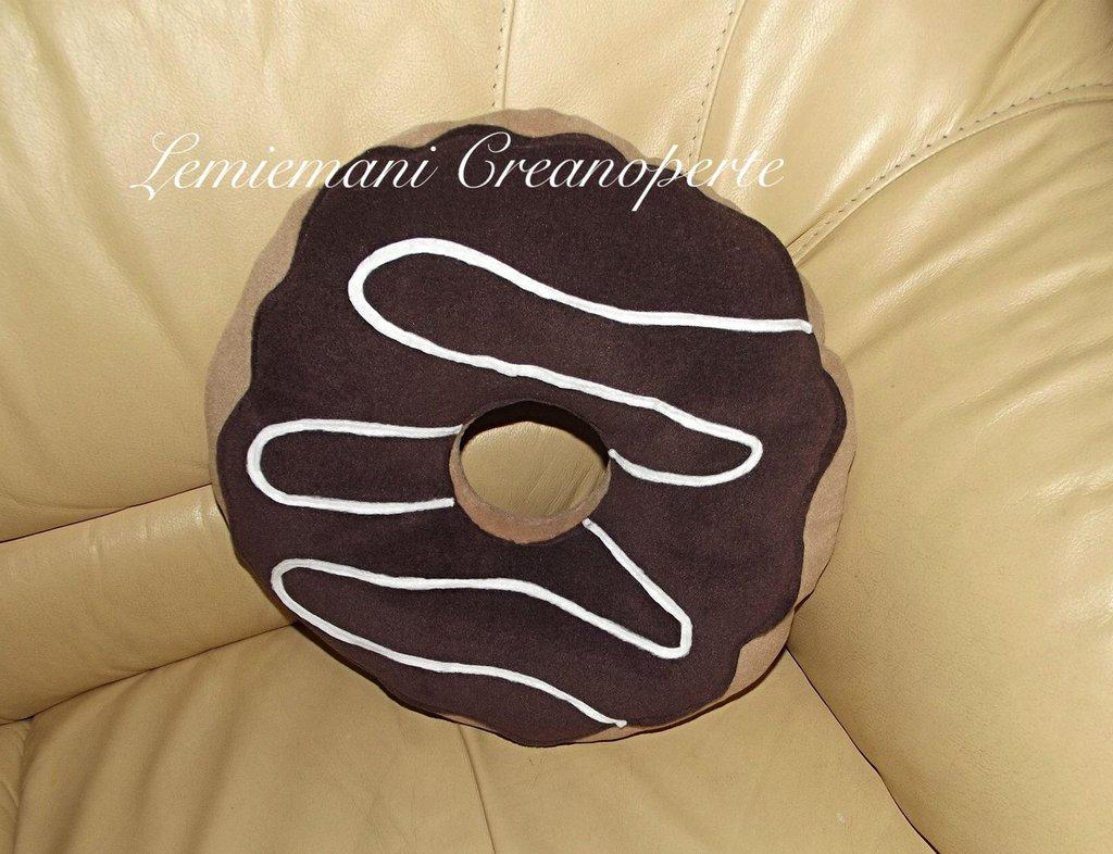 Cuscino Ciambella Donut pile Antipilling 40 cm handmade fatto a mano idea regalo San Valentino