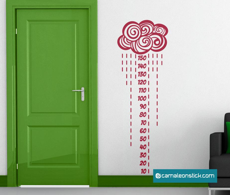 Metro da parete Nuvola - adesivi murali - metro crescita - metrino - sticker da parete