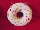 Cuscino a forma di Ciambella Donut idea regalo San Valentino handmade Pile Antipilling