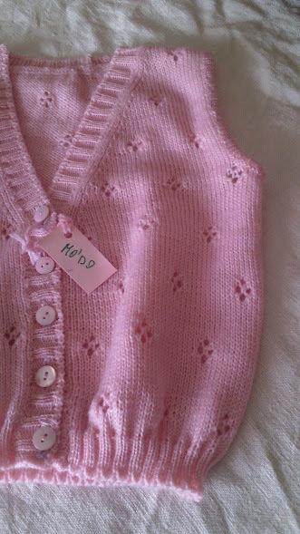 golfino smanicato lana maglia rosa