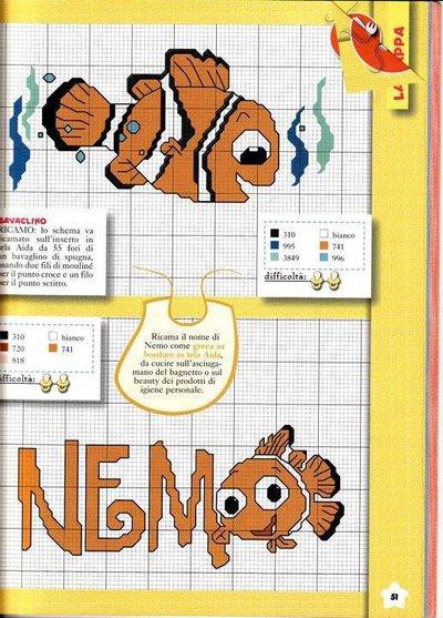 Schema Nemo punto croce