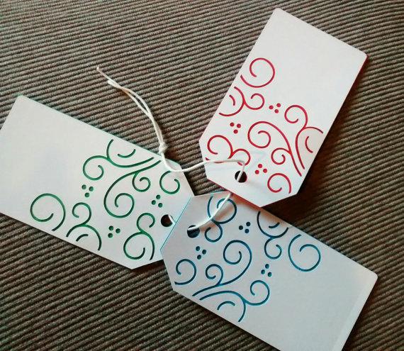 10 tag natalizie in cartoncino per decorazioni, packaging e idee regalo