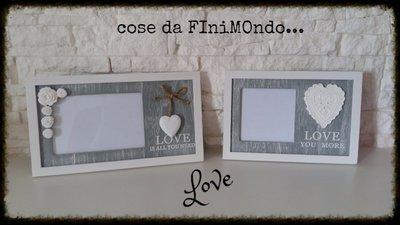cornici Love fatte a mano