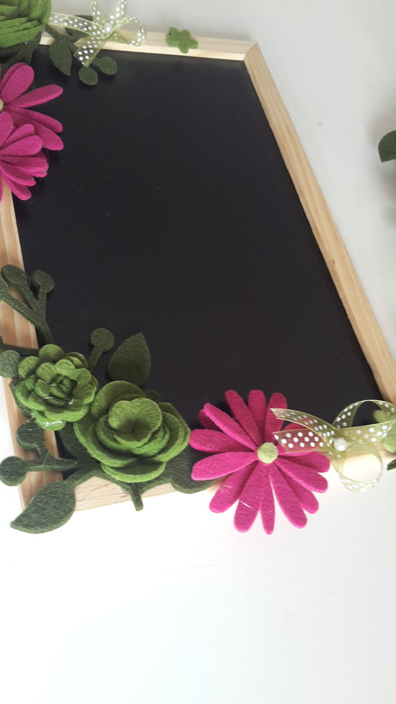 Lavagna rettangolare fiorita