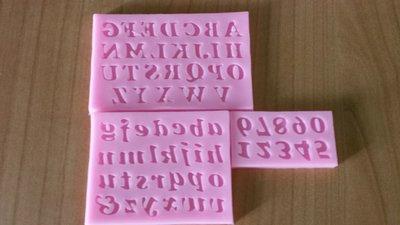 Stampi silicone per miniature lettere e numeri