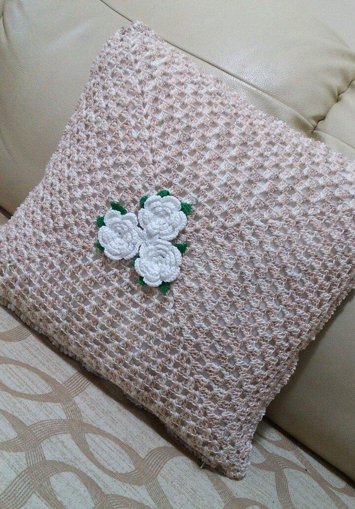 Cuscino morbidoso ad uncinetto