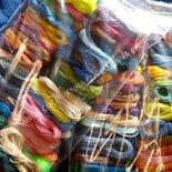 750 metri di filo cerato LINHASITA  1 mm di spessore, filo per macramè, filo brasiliano, 50 colori x 10 metri