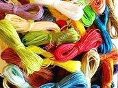 1250 metri di filo cerato LINHASITA  1 mm di spessore, filo per macramè, filo brasiliano, 50 colori x 25 metri