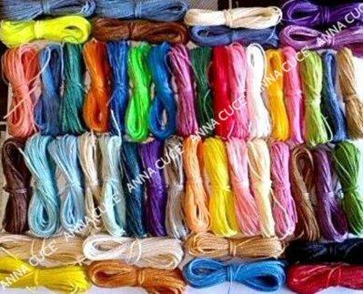 250 metri di filo cerato LINHASITA  1 mm di spessore, filo per macramè, filo brasiliano, 50 colori x 5 metri