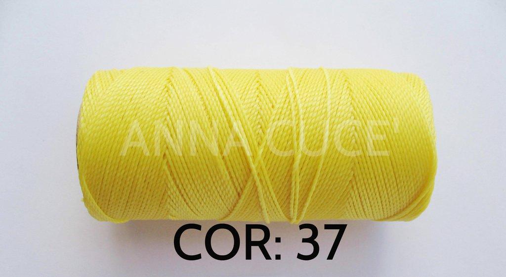 COLORE: 37 - 20 metri filo cerato LINHASITA 1 mm di spessore, filo per macramè, materiali