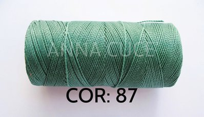 COLORE: 87 - 20 metri filo cerato LINHASITA 1 mm di spessore, filo per macramè, materiali