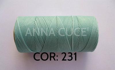 COLORE: 231 - 20 metri filo cerato LINHASITA 1 mm di spessore, filo per macramè, materiali