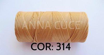 COLORE: 314 - 20 metri filo cerato LINHASITA 1 mm di spessore, filo per macramè, materiali