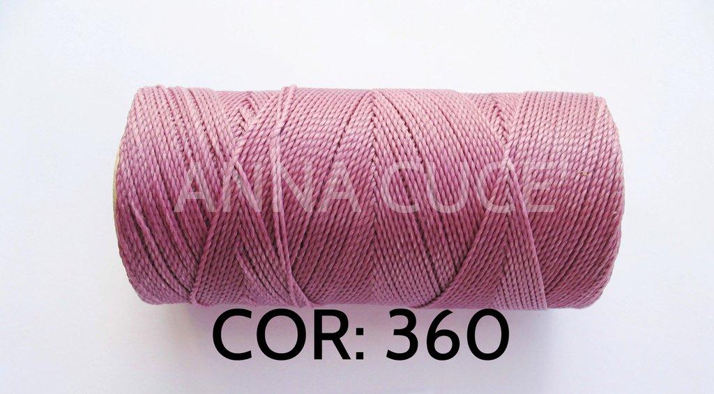 COLORE: 360 - 20 metri filo cerato LINHASITA 1 mm di spessore, filo per macramè, materiali