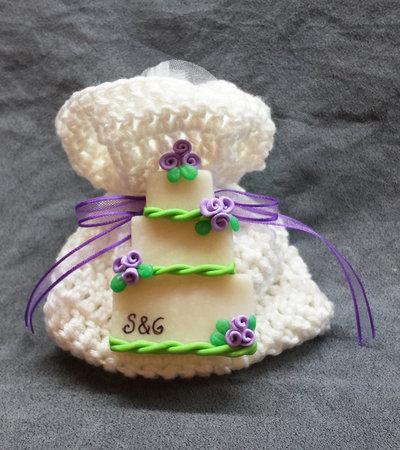 Bomboniera Matrimonio Completa, Wedding Cake, torta nuziale, sacchettino confetti iniziali