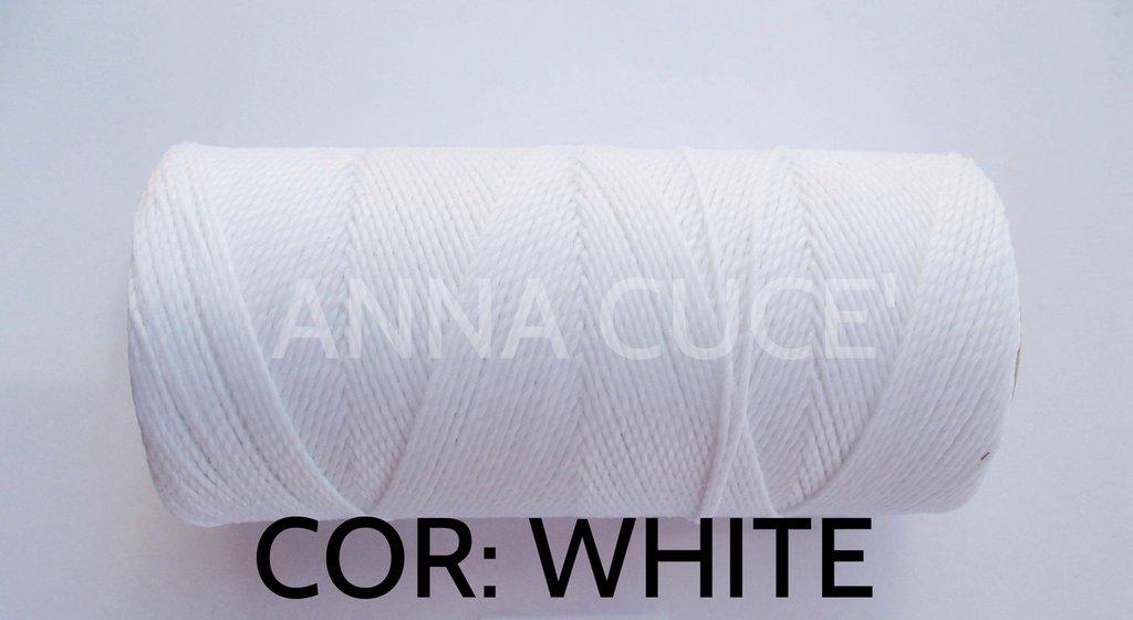 COLORE: WHITE - 20 metri filo cerato LINHASITA 1 mm di spessore, filo per macramè, materiali