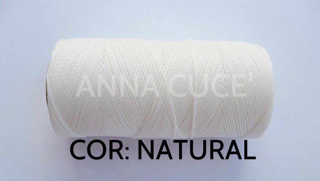 COLORE: NATURAL - 20 metri filo cerato LINHASITA 1 mm di spessore, filo per macramè, materiali