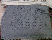 Copertina Neonato in pura lana, per carrozzina o culla, bimbo o bimba