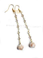 Orecchini Lunghi con perla idea regalo ragazza donna Natale