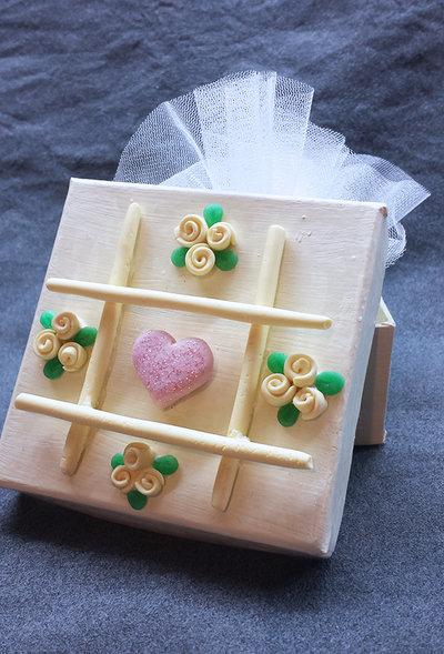 Bomboniera Matrimonio Elegante e Romantica, scatola porta gioielli, matrimonio avorio, rosa cipria