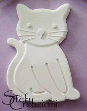 Gatto in Polvere di Ceramica