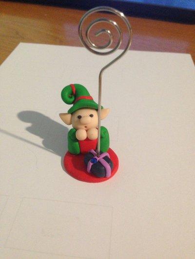Segnaposto elfo natalizio