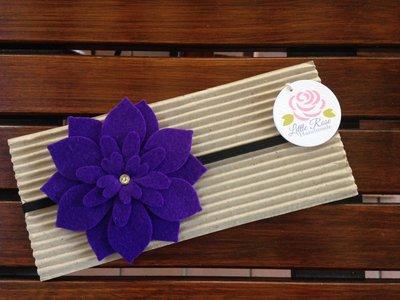 Fascia elastica a fiore grande per capelli by Little Rose Handmade